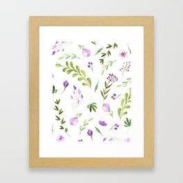 Purple Flower Field Framed Art Print
