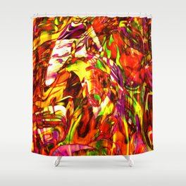 Fluid Painting (Yellow Version) Shower Curtain