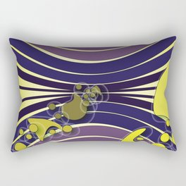 Escaping Dreams Purple and Yellow Rectangular Pillow