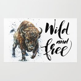 Buffalo Wild and Free Rug