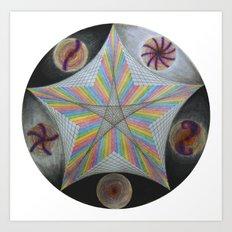 Galactic Pentagram (ANALOG zine) Art Print