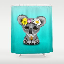 Cute Baby Koala Hippie Shower Curtain