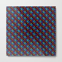 Beautiful Bright Geometric Space Pattern Metal Print