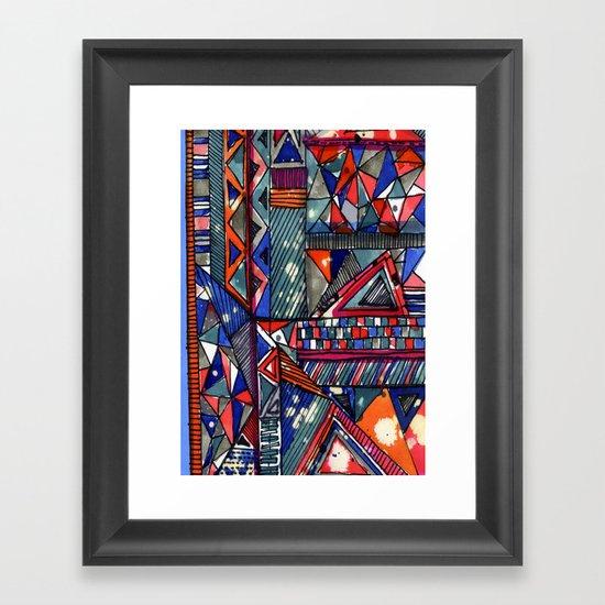 Tribal Texture Framed Art Print