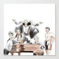 haikyuu Canvas Prints featuring Haikyuu!! Squad by Pruoviare