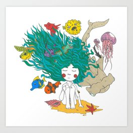 Sea Girl Art Print