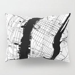 New York City Minimal Map Kissenbezug