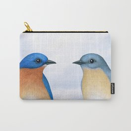 eastern bluebird portraits Carry-All Pouch
