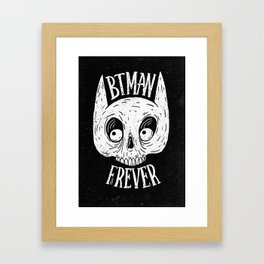 Bat skull Framed Art Print