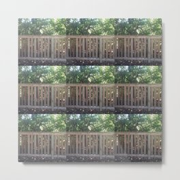 Wooden Fence - Exploring Alabama Street Metal Print