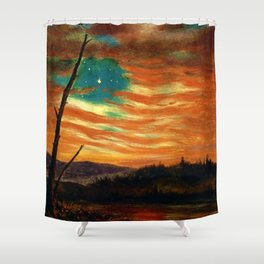 Our Banner in the Sky by Frederic Irwin Church Shower Curtain