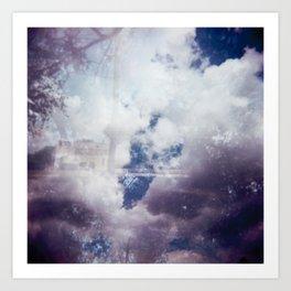 Blurry Clouds Art Print