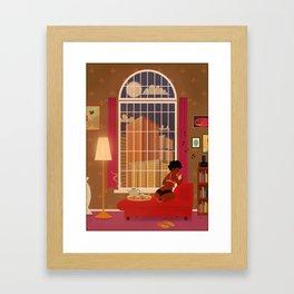 A quiet evening Framed Art Print