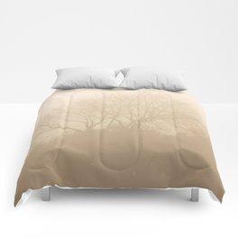 Foggy sunny morning Comforters