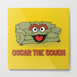 Oscar the Couch Metal Print