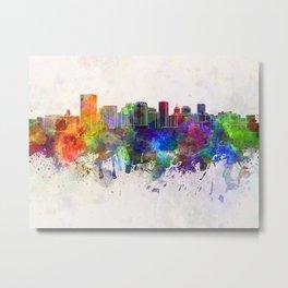 Richmond skyline in watercolor background Metal Print