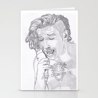 matty healy Stationery Cards featuring Matty by ☿ cactei ☿