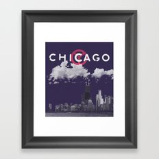 Chicago - Dark Purple Framed Art Print