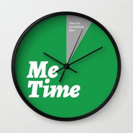 Me Time - Green Wall Clock