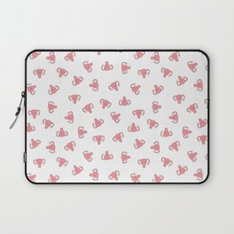 Crazy Happy Uterus in White, small repeat Laptop Sleeve