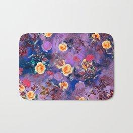 flowers purple Bath Mat