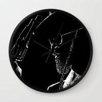 django Wall Clocks featuring Django by JessicaBader