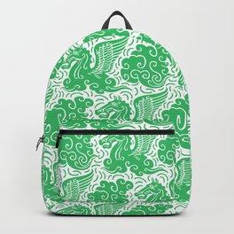 Pegasus Pattern Green Backpack
