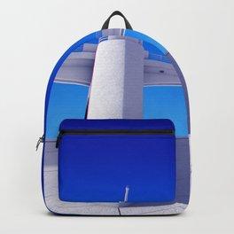 Sepulveda Dam on blue Backpack