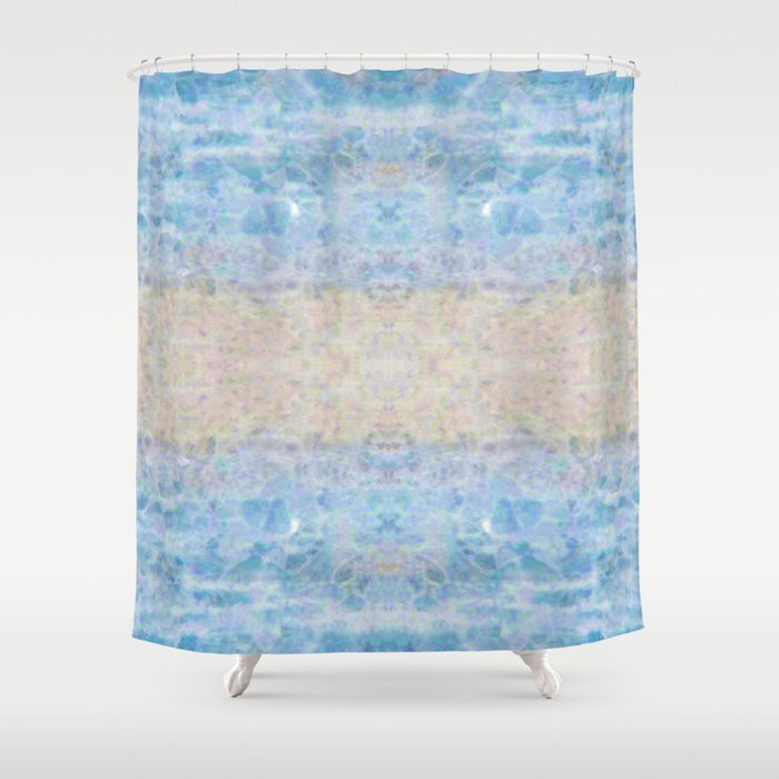 BOHEMIAN ICE STONE BLUE Shower Curtain By Bohemianstyle