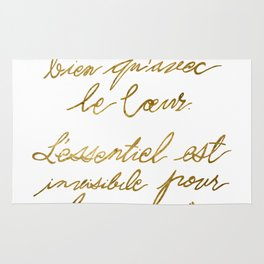 The Little Prince Quote 002, gold Rug