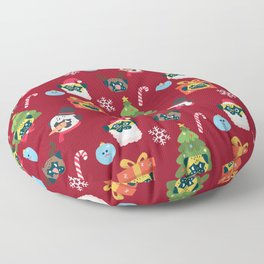 Xmas and Pugs Floor Pillow