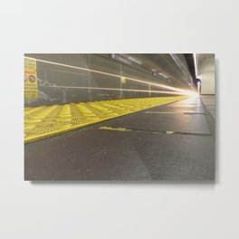 Motion Blur Granville Skytrain 2 Metal Print