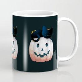 065 - tired kitty on the Halloween pumkpin Coffee Mug