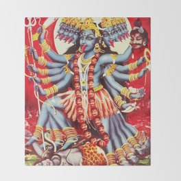 Hindu Kali 11 Throw Blanket