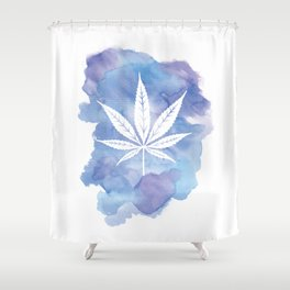 One Love: Blue Shower Curtain