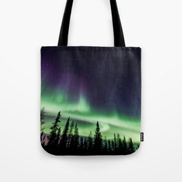 Aurora during geomagnetic storm in Yellowknife, Canada Tote Bag
