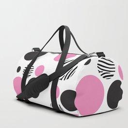 Pink zebra Duffle Bag