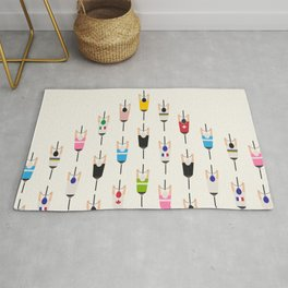 Bicycle squad Rug