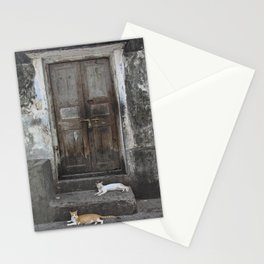 Cats at the Door Stationery Cards
