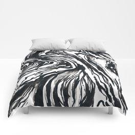 Marbled Black Comforters