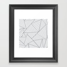 Abstraction Lines Zoom Grey Framed Art Print