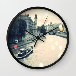 Floating gray Wall Clock