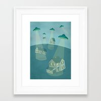 ufo Framed Art Prints featuring UFO by Banessa Millet