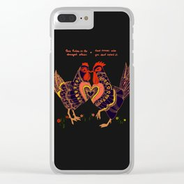 Love hides in the strangest places Clear iPhone Case