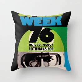 Speed week 76 Throw Pillow