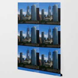 Manhattan View From Hudson River Wallpaper