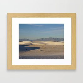 Adam in White Sands, New Mexico Framed Art Print