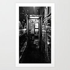 midnite call london Art Print