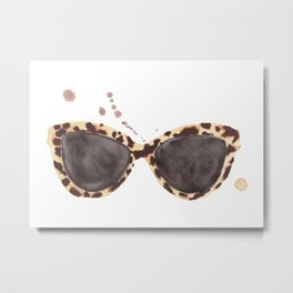 Tortoiseshell Sunglasses Metal Print