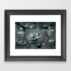 Raum-Abenteuer 3 Framed Art Print